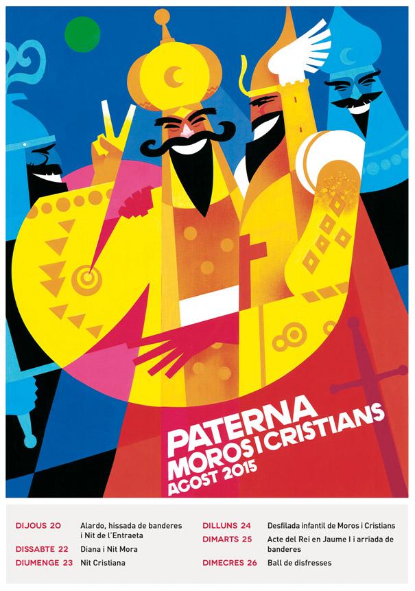 Cartel Anunciador de Fiestas de Moros y Cristianos José Barbeta, obra de Agustín Llopis